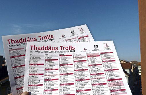 Schimpfen wie Thaddäus Troll