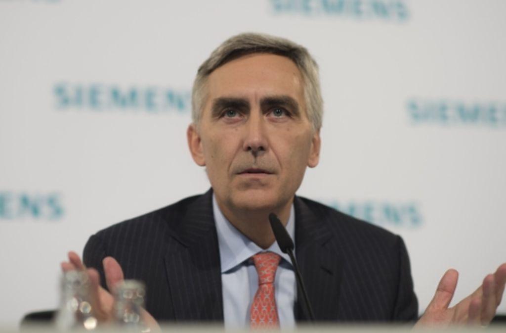 Siemens-Vorstandschef in Nöten: Peter Löscher hat viele Baustellen. Foto: dapd