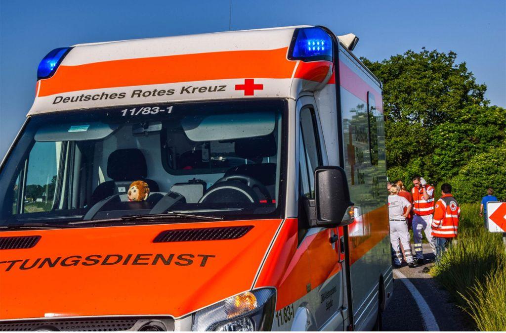 Zwei Leichtverletzte und ein möglicherweise verletztes Kleinkind sind die Bilanz eines Unfalls in Filderstadt. Foto: 7aktuell.de/Fabian Geier/www.7aktuell.de/Fabian Geier