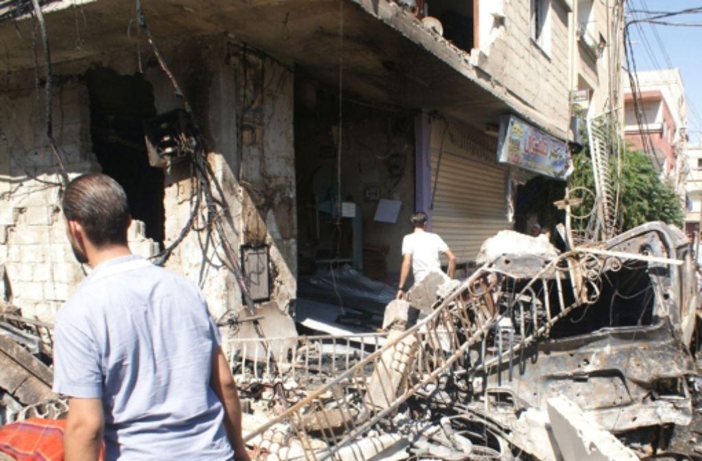 Die Zerstörungen in Damaskus erreichen fast alle Stadtteile. Foto: dpa