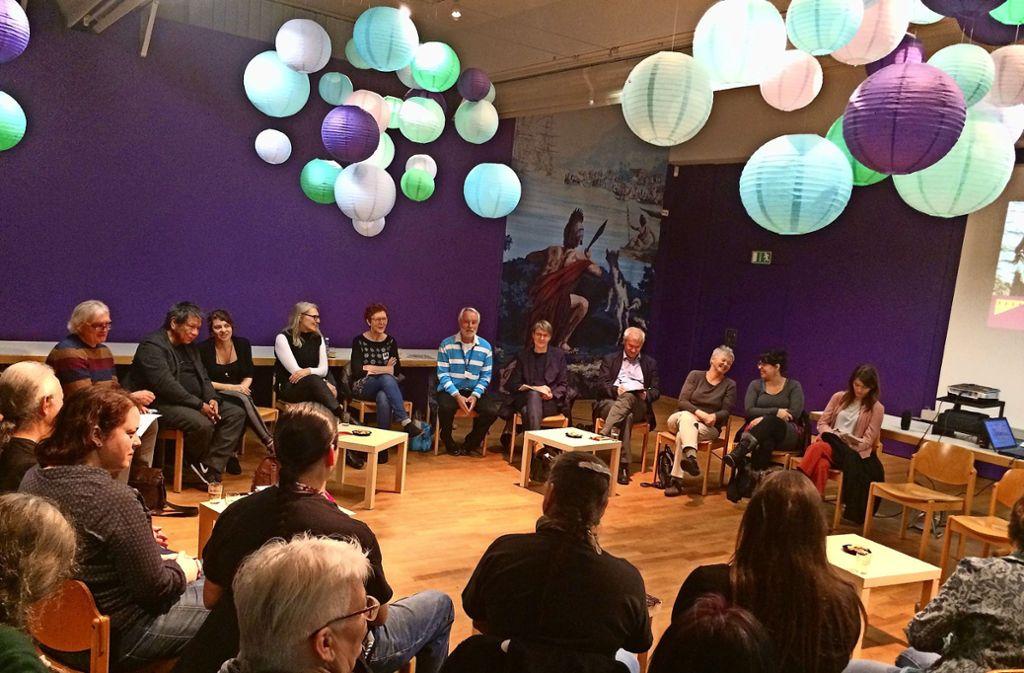 Zahlreiche Mitwirkende des Nordamerika-Filmfestivals. Foto: Sascha Maier