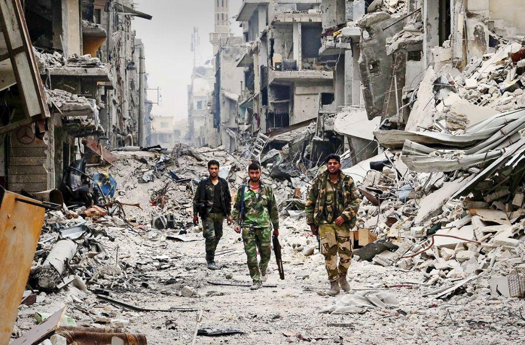 Hier vor Damaskus wurde der IS 2018 vertrieben. Kehrt er bald zurück? Foto: dpa/Ammar Safarjalani