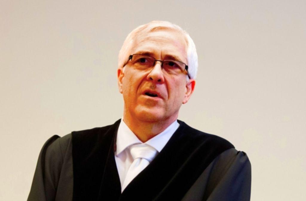 """Richter Rosenow fühlt sich von der Staatsanwaltschaft """" aufs Glatteis"""" geführt. Foto: dpa"""