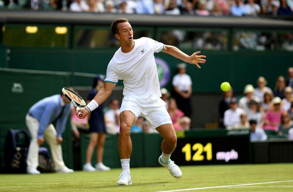 Keine Chance für Philipp Kohlschreiber gegen Novak Djokovic. Foto: Getty Images