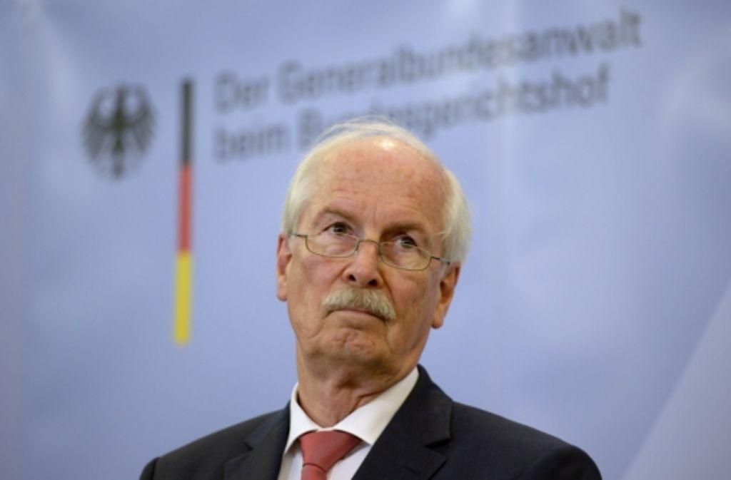 Der 67-jährige Jurist Harald Range läuft Gefahr, seine Karriere als Bauernopfer zu beschließen. Foto: AFP