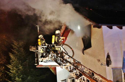 200 000 Euro Schaden bei Dachstuhlbrand