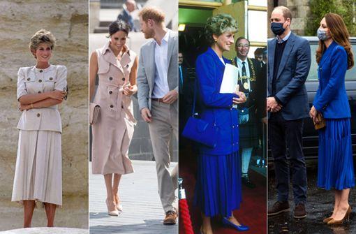 Wie sie Prinzessin Diana modisch Tribut zollen