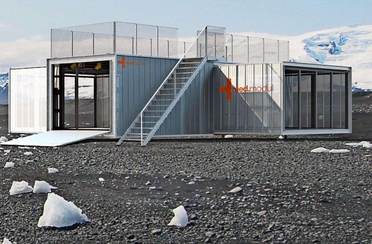Die  mobile Raumeinheit kommt hin, wo sie gebraucht wird. Foto: Lohrmanarchitekt