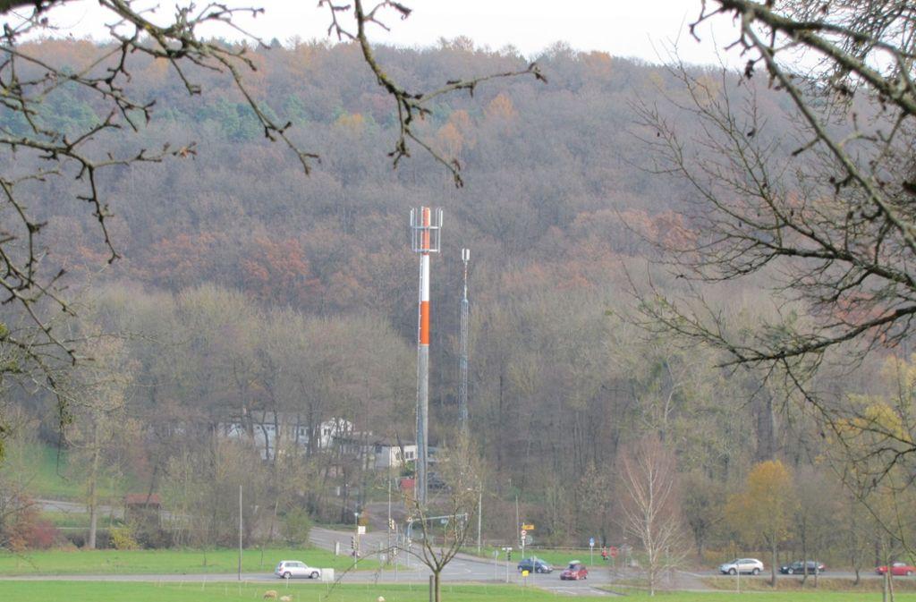 Ein Mobilfunkmast wie an der Birkacher Straße könnte auch in Rohr gebaut werden. Foto: Archiv Sägesser