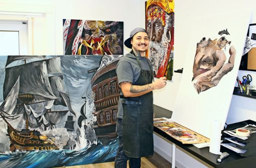 Nellinger Tattookünstler malt jetzt mit Acryl
