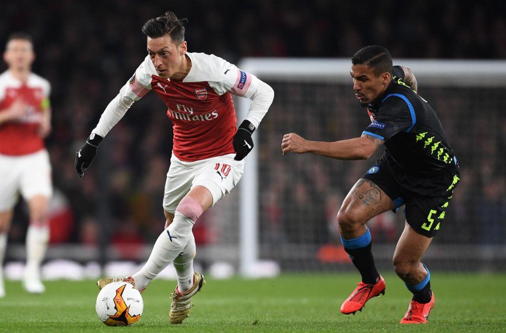 Mesut Özil ist auf dem besten Weg ins Halbfinale der Fußball-Europa-League. Foto: Arsenal FC