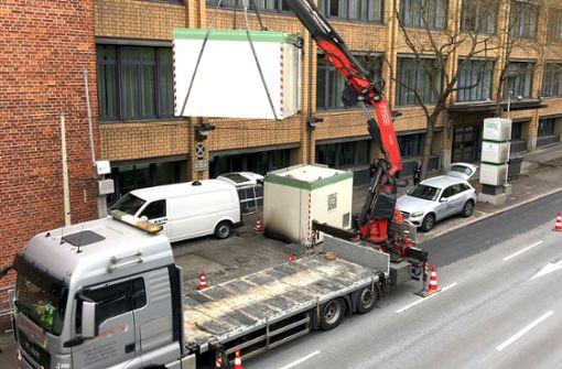 Neuer Messcontainer am Neckartor