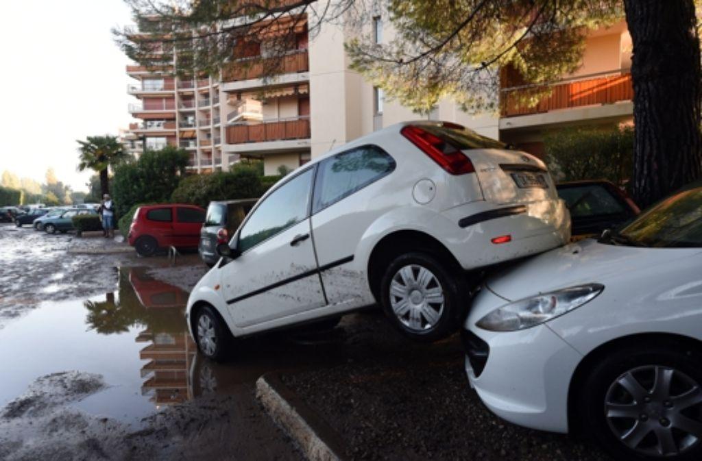 In Südfrankreich haben starke Regenfälle für ein Chaos mit vielen Toten gesorgt Foto: AFP