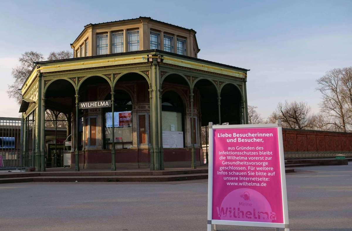 Der Eingang der Wilhelma wird vorerst geschlossen bleiben. Foto: Wilhelma Stuttgart