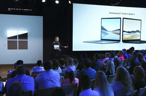 Microsoft zeigt neue Laptops und Smartphone mit Doppel-Display