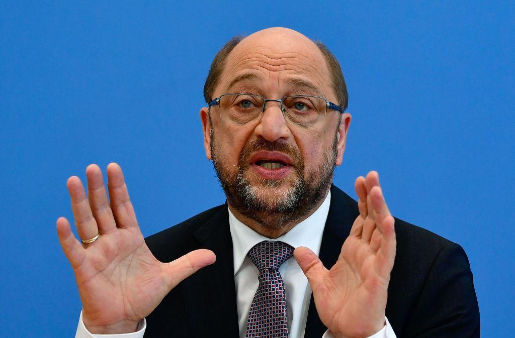 Martin Schulz hat am Dienstag angekündigt, dass die SPD über die Homo-Ehe im Bundestag abstimmen lassen will. Foto: AFP