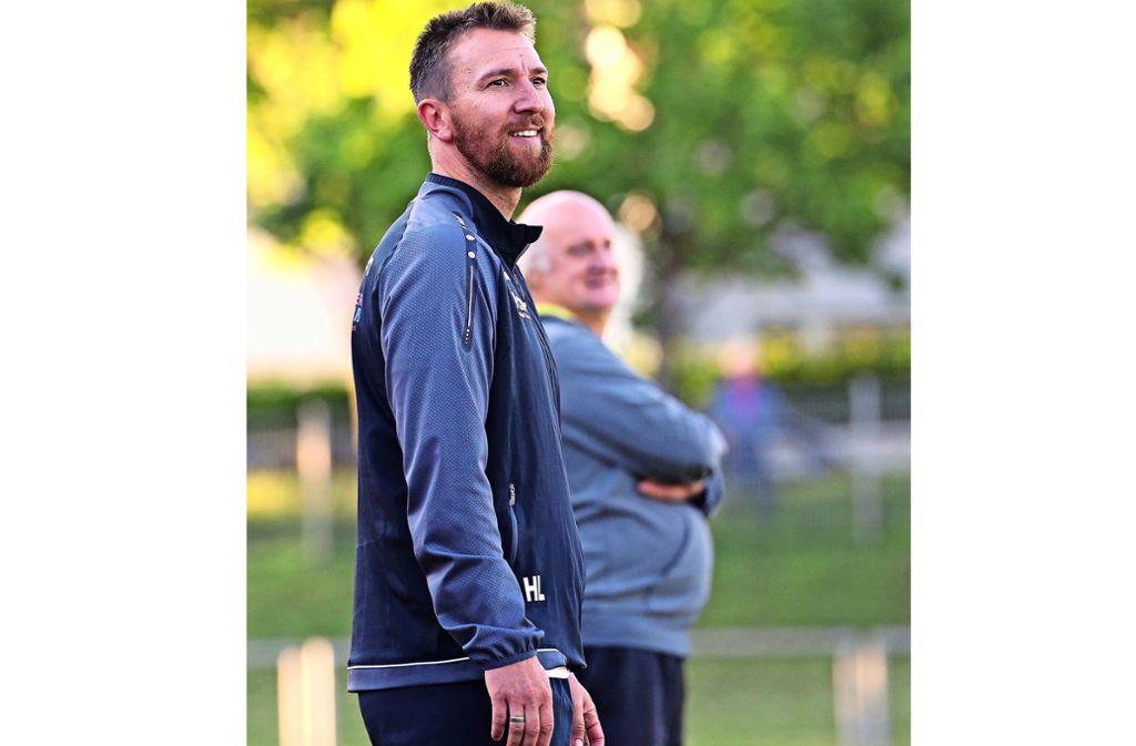 Das erste Relegationsspiel hat dem Trainer Holger Ludwig Spaß gemacht. Foto: Baumann