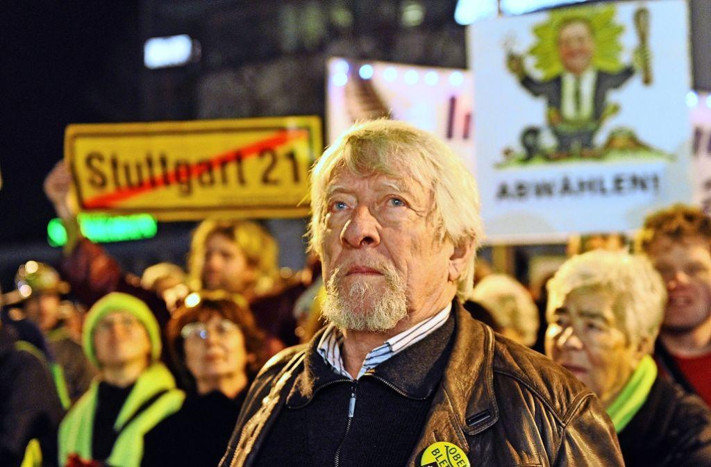 Gangolf Stocker hält  von den Demos gegen Stuttgart 21 nichts mehr. Foto: Archiv Kraufmann
