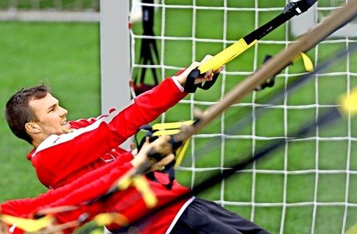 Der Klassenverbleib wird für den VfB wieder ein Kraftakt: Dafür bringt sich der Neuzugang Kevin Großkreutz in Form. Foto: Baumann