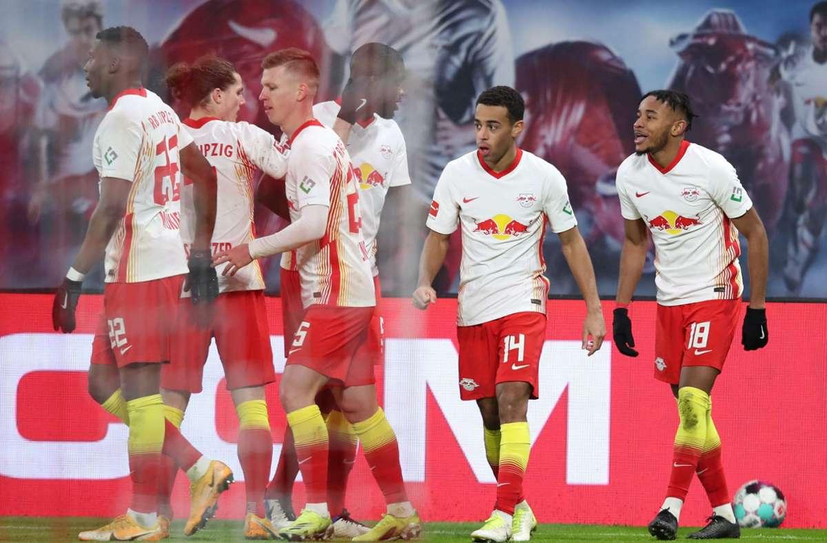 RB Leipzig hat Bayer Leverkusen mit 1:0 besiegt. Foto: AFP/RONNY HARTMANN