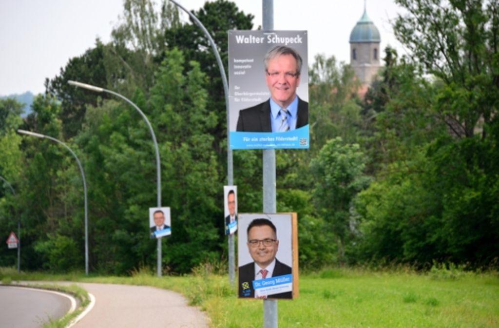 Bisher wurden die beiden OB-Kandidaten Georg Müller und Walter Schupeck noch nicht von den Vereinsringen und der Sportgemeinschaft eingeladen. Foto: Norbert J. Leven