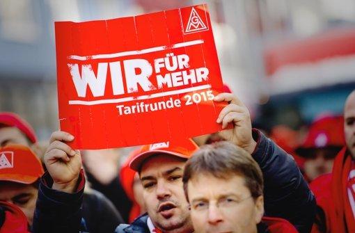 Bundesweit haben  sich insgesamt 750000 Metaller an den Warnstreiks beteiligt. Foto: dpa