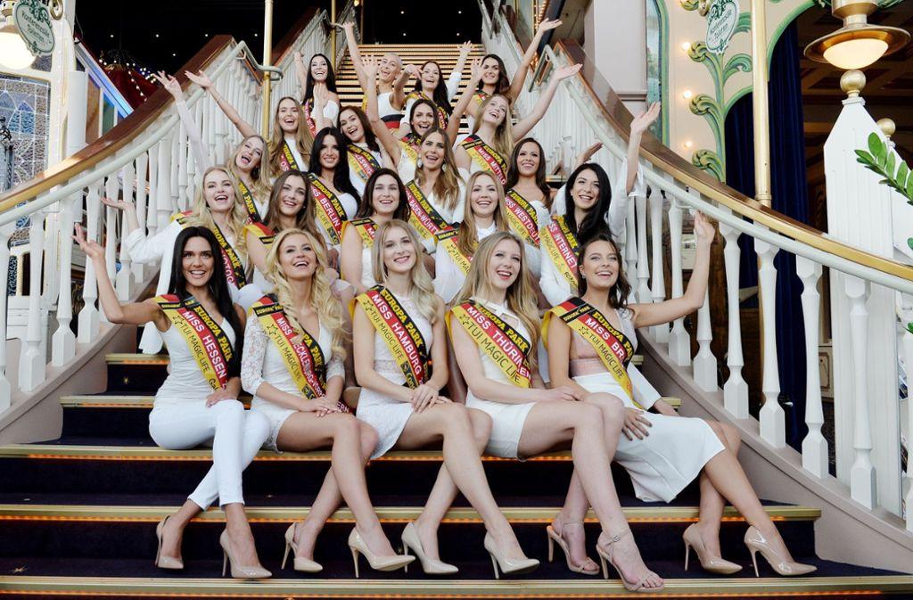 In Rust haben sich die Miss-Germany-Kandidatinnen zum ersten Mal getroffen. Foto: dpa