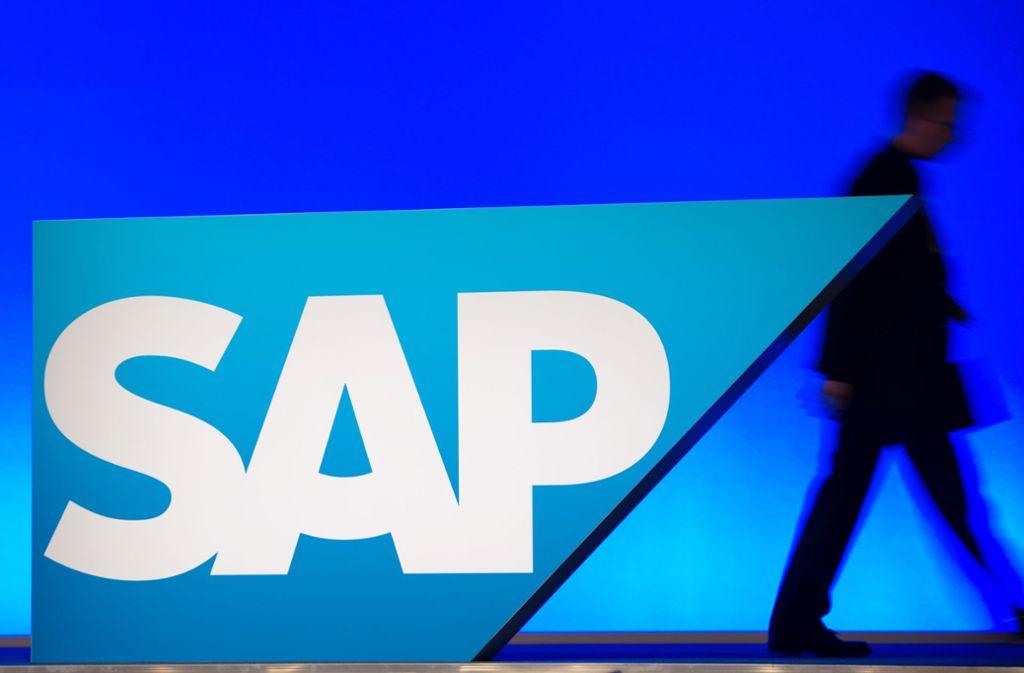 SAP taucht als einziges deutschen Unternehmen in der Liste auf. Foto: picture alliance /dpa/Uwe Anspach