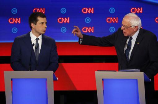 Hitzige TV-Debatte der demokratischen Präsidentschaftsbewerber