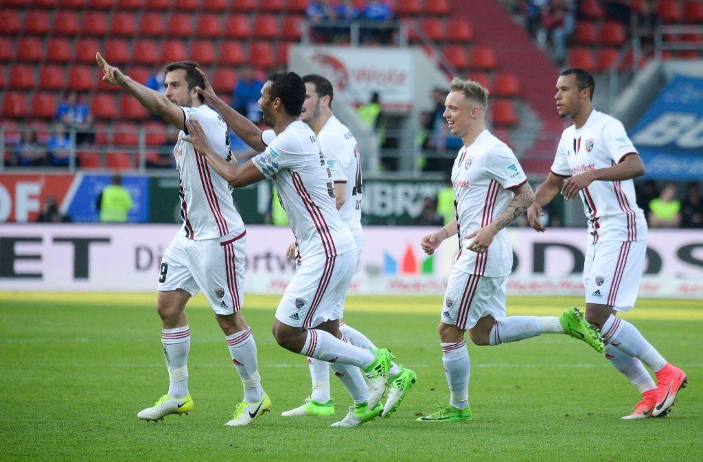 Der FC Ingolstadt hat Darmstadt mit 3.2 bezwungen. Foto: dpa