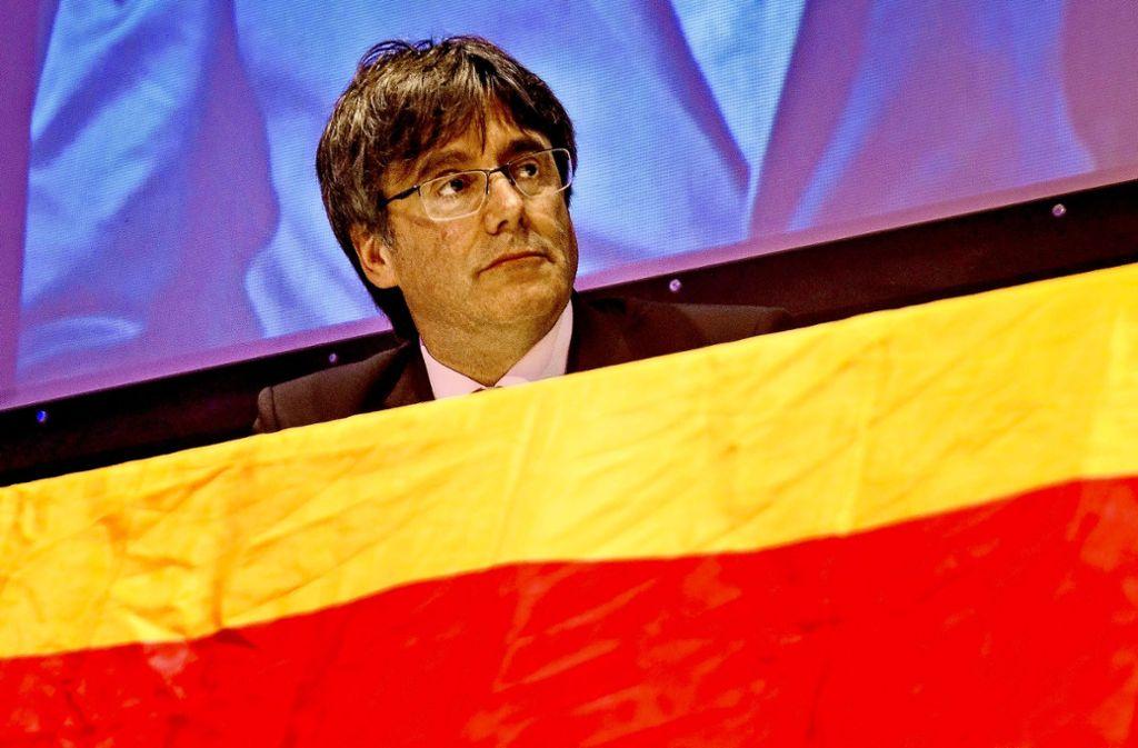 """""""Die Katalanen sind ein Volk"""", sagt Puigdemont in Sindelfingen. Foto:"""