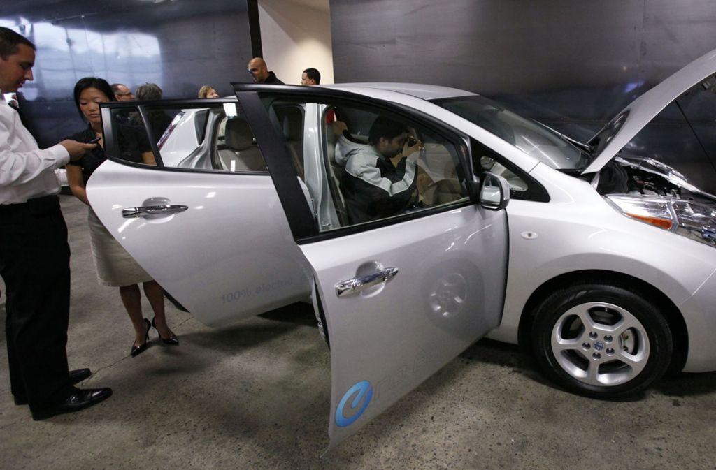 Die Konkurrenz aus Japan schläft nicht: Nissan will zukünftig viel mehr Elektroautos auf die Straße bringen. Foto: AP