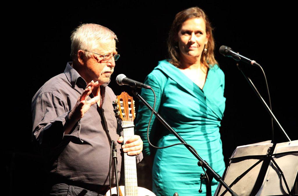 Wolf und Pamela Biermann im Stuttgarter Theaterhaus Foto: Jan Reich/Lichtgut