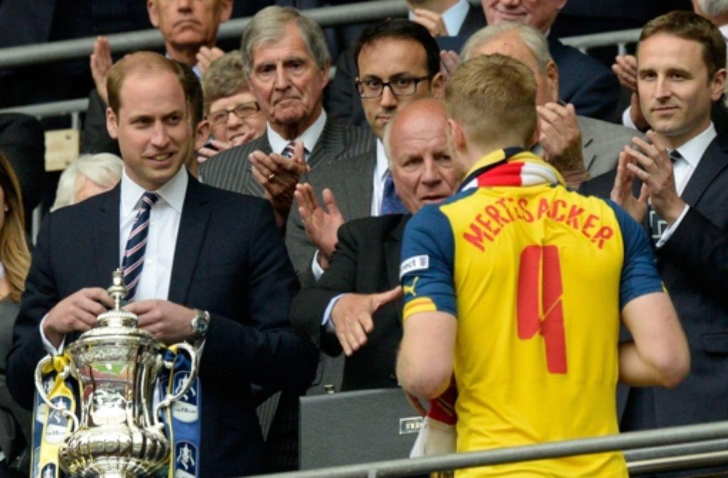 Prinz William beim FA-Cup-Finale.  Foto: EPA
