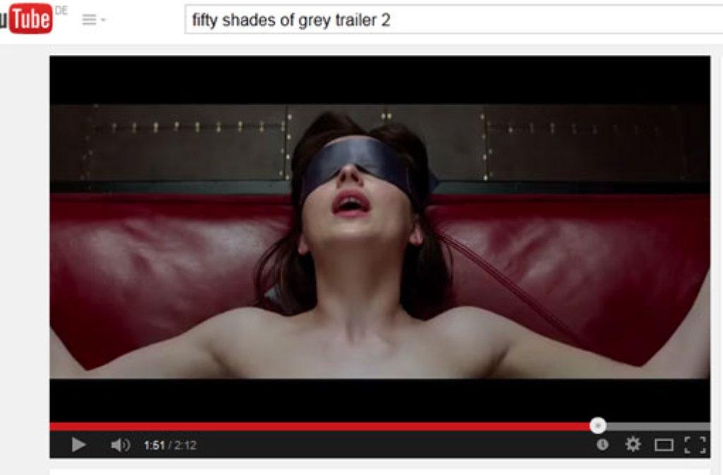 Fifty Shades of Grey wird fortgesetzt. Foto: Screenshot YouTube