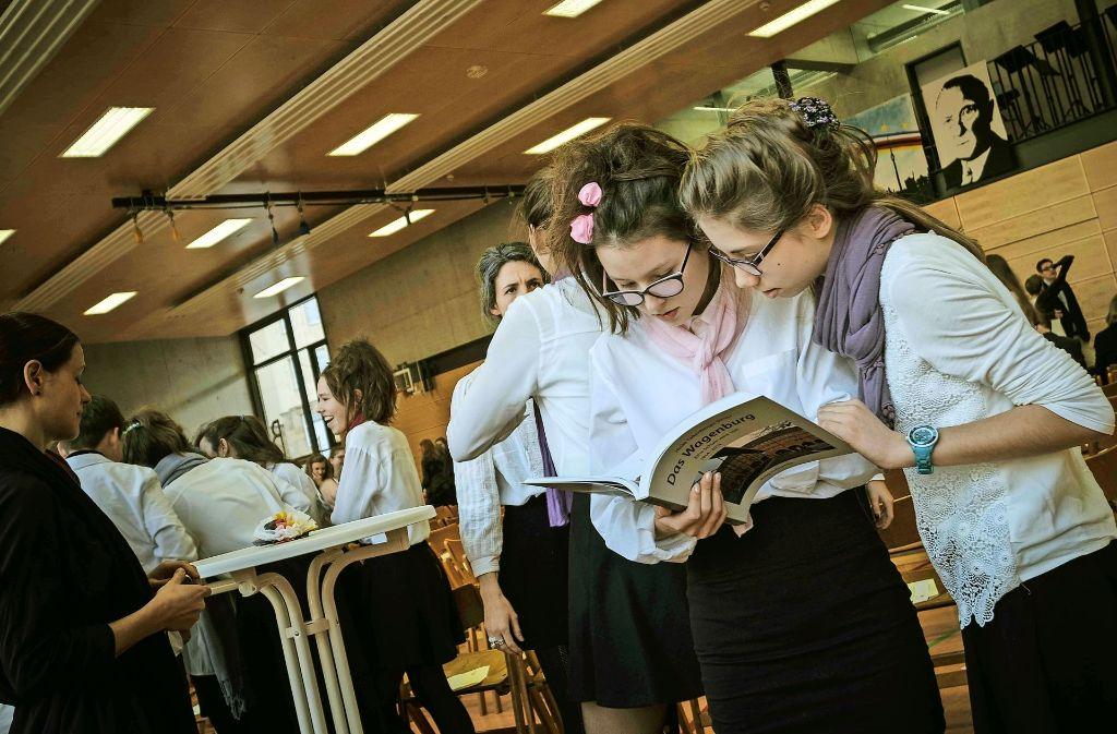 Zuhause in der Sprache und Kultur zweier Länder: die Wagenburg-Schüler der deutsch-französischen Abteilung. Foto: Lichtgut/Leif Piechowski