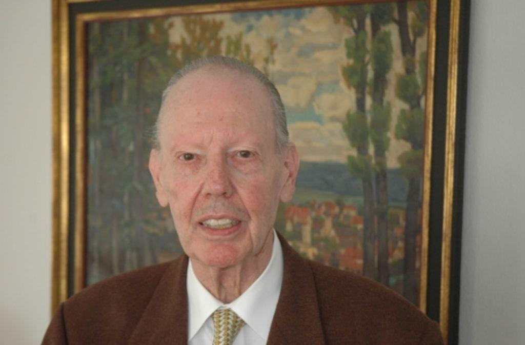 Für Diethelm Lütze gehörte die Kunst zum Leben. Er starb im Alter von 83 Jahren. Foto: Georg Linsenmann
