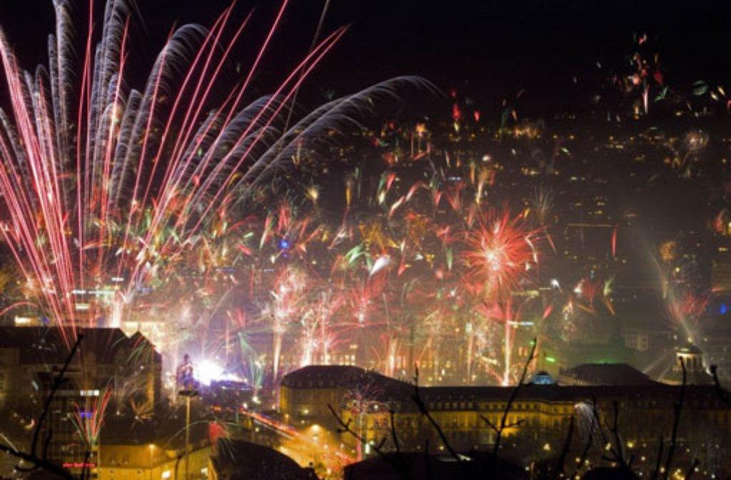 Silvester Feuerwerk Stuttgart