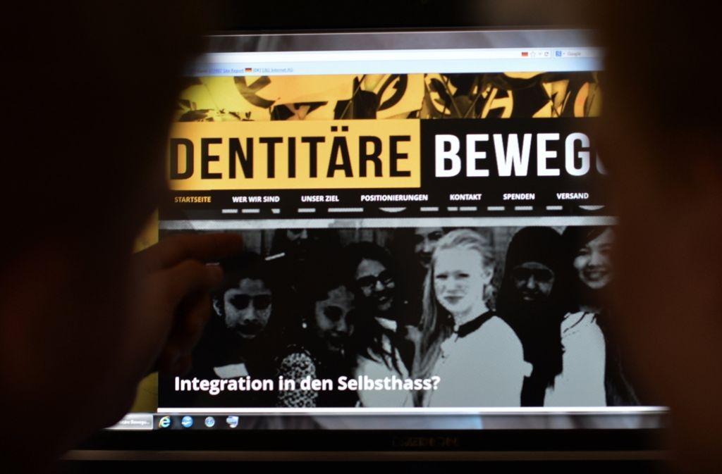 """Die """"Identitäre Bewegung"""" hat ihren Weg aus dem Internet in die Realwelt geschafft. Foto: dpa"""
