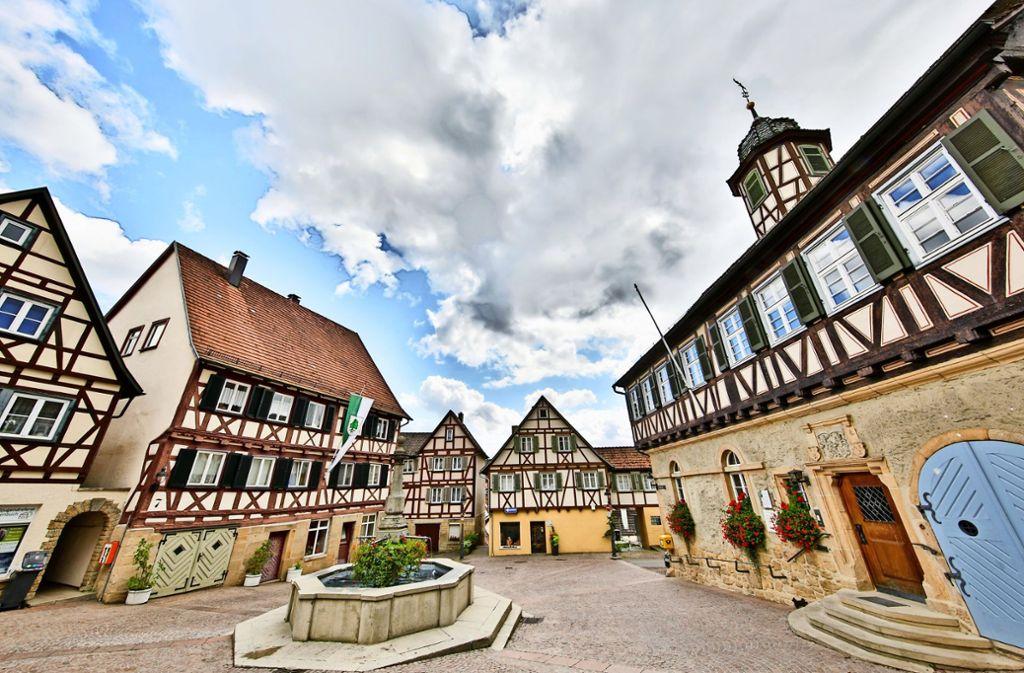 In Waldenbuch gibt es noch viele Fachwerkhäuser, die eine heimelige Atmosphäre schaffen. Foto: Thomas Krämer