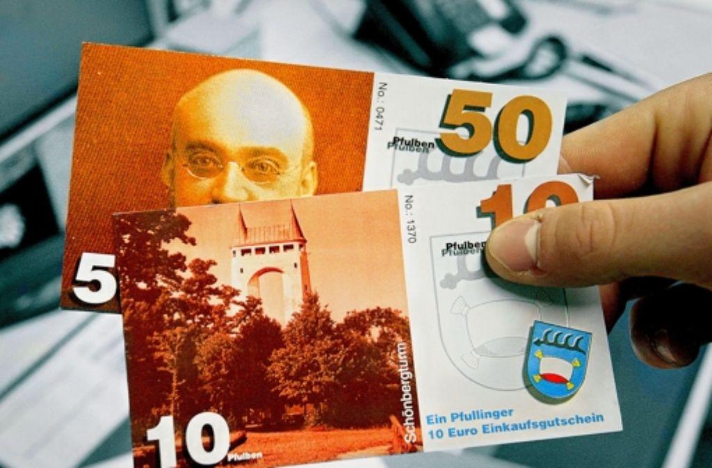 Diese  Währung gilt nur in Pfullingen.  Sie soll die Kaufkraft in der Stadt halten. Foto: Horst Haas