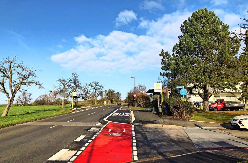 Auch die  Bushaltestelle  an der Einfahrt in den Stadtteil Heuweg ist aufwendig umgestaltet worden. Foto: privat