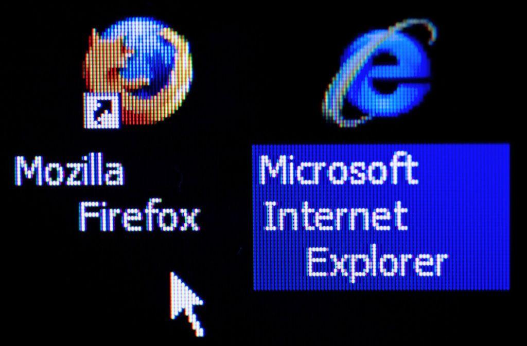 Vom Bundesamt wurden unter anderem Mozilla Firefox und der Microsoft Internet Explorer getestet. Foto: dpa/Jens Büttner