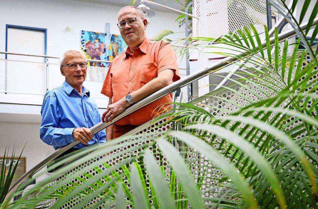 Hans Wörner und Thomas Bleicher (rechts) werben um  Mitstreiter. Foto: factum/Granville
