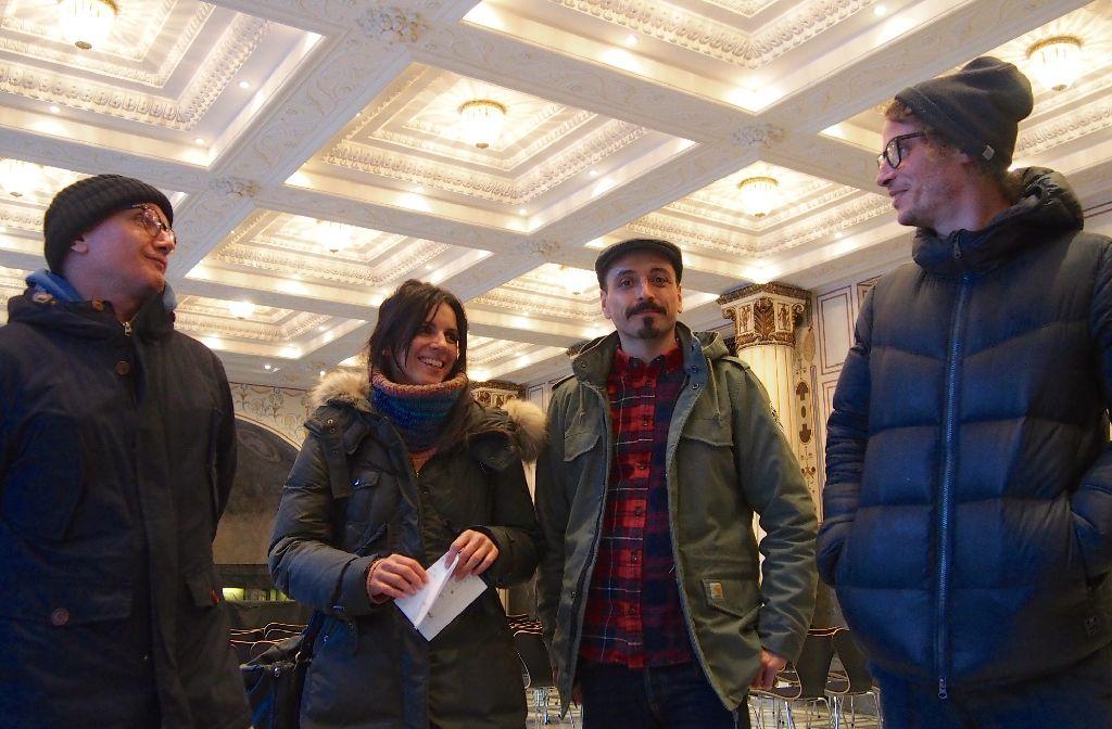 Sie wollen die Party des Jahres im Marmorsaal schmeißen: Uwe Wagner, Elena Haller, Sebastian Heitzmann und Crischa Wahl (von links).  Foto: Tanja Simoncev