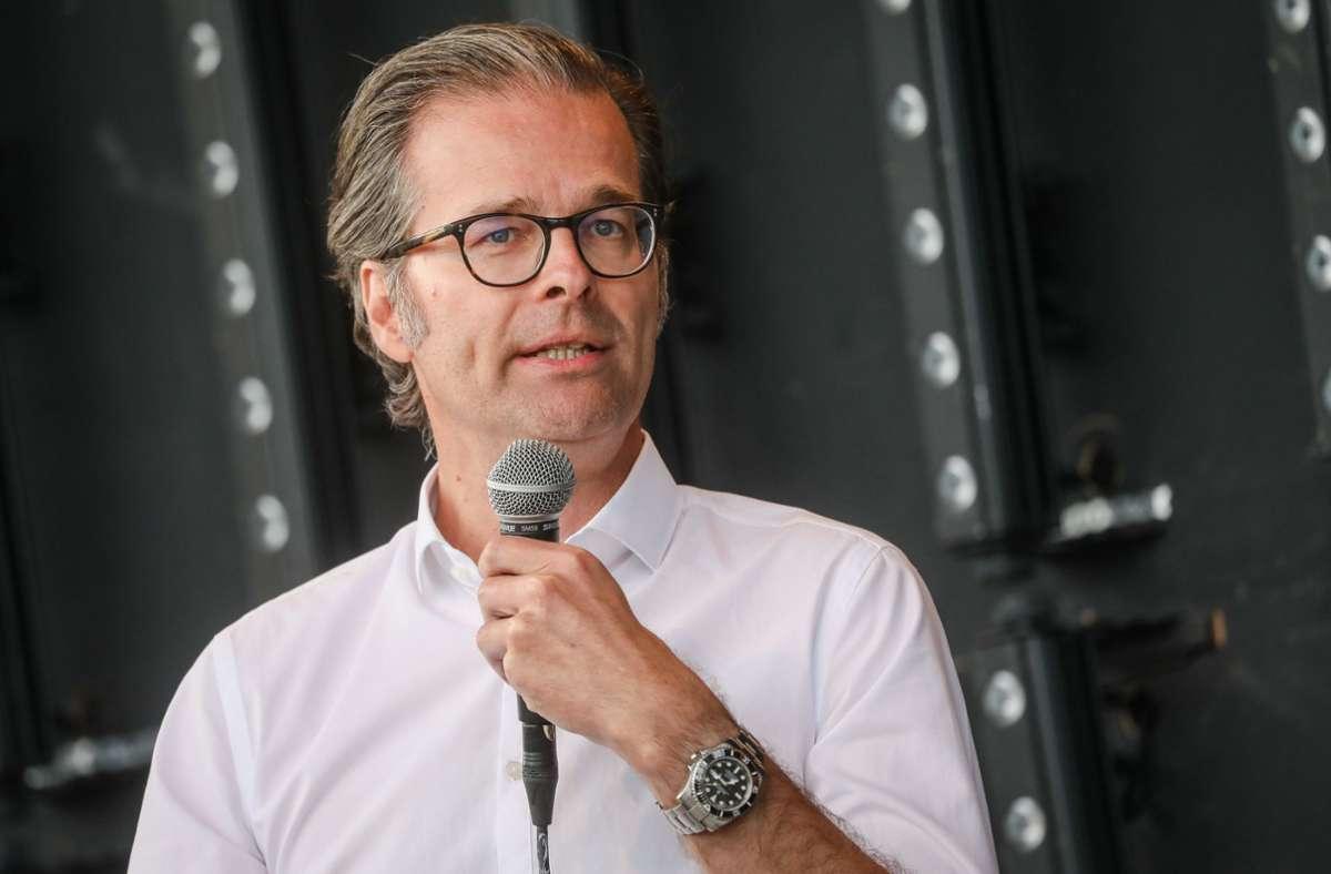Holger Siegmund-Schultze ist neuer KSC-Präsident. Foto: dpa/Christoph Schmidt