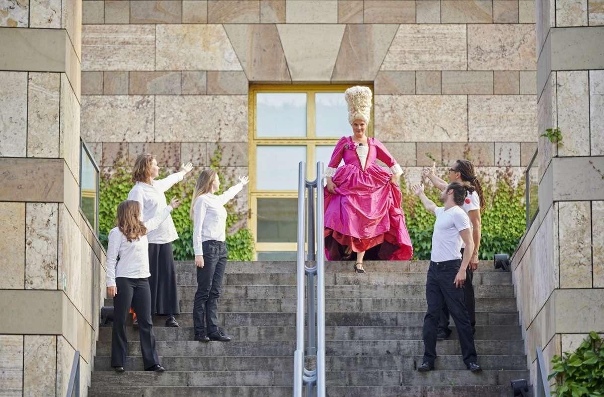 Schauspiel zu Gast am Kunsttempel: eine Szene aus der Inszenierung. Foto: Martin Sigmund