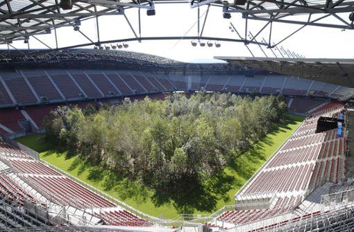 Österreicher verwandeln Fußballrasen in einen Wald