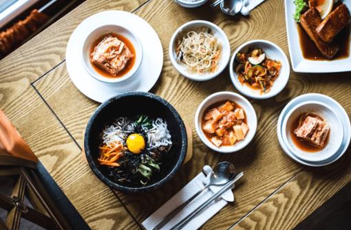 Koreanisch essen im Kessel
