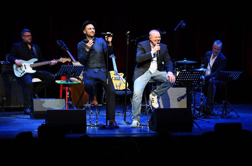 Stefan Raab war Überraschungsgast beim Konzert von Max Mutzke. Foto: Allendorf Media